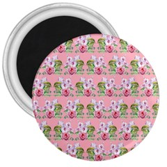 Floral Pattern 3  Magnets by SuperPatterns