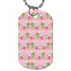 Floral Pattern Dog Tag (one Side) by SuperPatterns