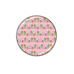 Floral Pattern Hat Clip Ball Marker (4 Pack) by SuperPatterns