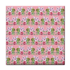 Floral Pattern Face Towel by SuperPatterns