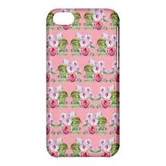Floral Pattern Apple Iphone 5c Hardshell Case by SuperPatterns