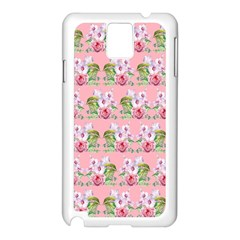 Floral Pattern Samsung Galaxy Note 3 N9005 Case (white) by SuperPatterns