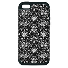 Star Crystal Black White 1 And 2 Apple Iphone 5 Hardshell Case (pc+silicone) by Cveti