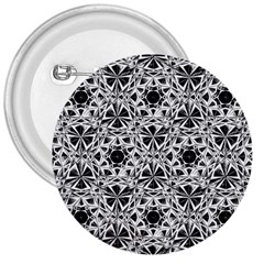 Star Crystal Black White 1 And 2 3  Buttons by Cveti