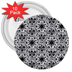 Star Crystal Black White 1 And 2 3  Buttons (10 Pack)  by Cveti
