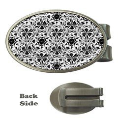 Star Crystal Black White 1 And 2 Money Clips (oval)  by Cveti