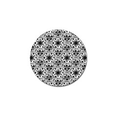 Star Crystal Black White 1 And 2 Golf Ball Marker (10 Pack) by Cveti