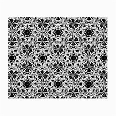 Star Crystal Black White 1 And 2 Small Glasses Cloth by Cveti