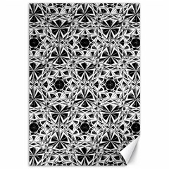 Star Crystal Black White 1 And 2 Canvas 12  X 18   by Cveti