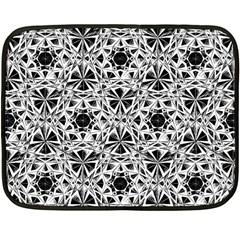 Star Crystal Black White 1 And 2 Double Sided Fleece Blanket (mini)  by Cveti