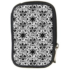 Star Crystal Black White 1 And 2 Compact Camera Cases by Cveti