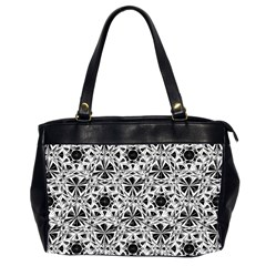 Star Crystal Black White 1 And 2 Office Handbags (2 Sides)  by Cveti