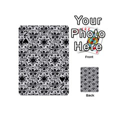 Star Crystal Black White 1 And 2 Playing Cards 54 (mini)  by Cveti