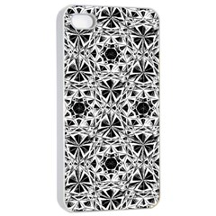 Star Crystal Black White 1 And 2 Apple Iphone 4/4s Seamless Case (white) by Cveti
