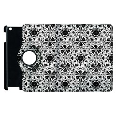 Star Crystal Black White 1 And 2 Apple Ipad 3/4 Flip 360 Case by Cveti