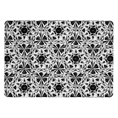Star Crystal Black White 1 And 2 Samsung Galaxy Tab 10 1  P7500 Flip Case by Cveti