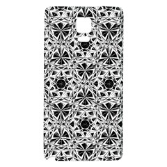 Star Crystal Black White 1 And 2 Galaxy Note 4 Back Case by Cveti