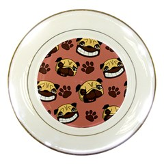 Happy Pugs Porcelain Plates