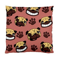 Happy Pugs Standard Cushion Case (two Sides) by allthingseveryday