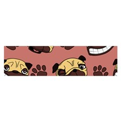 Happy Pugs Satin Scarf (oblong) by allthingseveryday