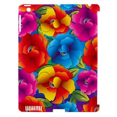 Neon Colored Floral Pattern Apple Ipad 3/4 Hardshell Case (compatible With Smart Cover) by allthingseveryday