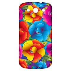 Neon Colored Floral Pattern Samsung Galaxy S3 S Iii Classic Hardshell Back Case by allthingseveryday