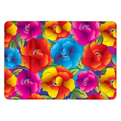 Neon Colored Floral Pattern Samsung Galaxy Tab 8 9  P7300 Flip Case by allthingseveryday