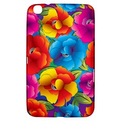Neon Colored Floral Pattern Samsung Galaxy Tab 3 (8 ) T3100 Hardshell Case  by allthingseveryday