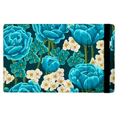 Light Blue Roses And Daisys Apple Ipad 2 Flip Case by teambridelasvegas