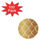 Vintage,gold,damask,floral,pattern,elegant,chic,beautiful,victorian,modern,trendy 1  Mini Buttons (100 Pack)  by 8fugoso