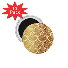 Vintage,gold,damask,floral,pattern,elegant,chic,beautiful,victorian,modern,trendy 1 75  Magnets (10 Pack)  by 8fugoso