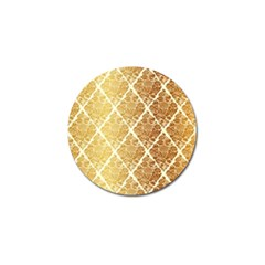 Vintage,gold,damask,floral,pattern,elegant,chic,beautiful,victorian,modern,trendy Golf Ball Marker by 8fugoso