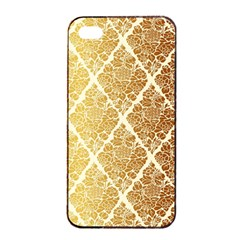 Vintage,gold,damask,floral,pattern,elegant,chic,beautiful,victorian,modern,trendy Apple Iphone 4/4s Seamless Case (black) by 8fugoso