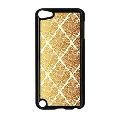 Vintage,gold,damask,floral,pattern,elegant,chic,beautiful,victorian,modern,trendy Apple Ipod Touch 5 Case (black) by 8fugoso