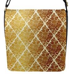 Vintage,gold,damask,floral,pattern,elegant,chic,beautiful,victorian,modern,trendy Flap Messenger Bag (s) by 8fugoso