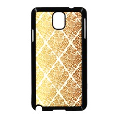 Vintage,gold,damask,floral,pattern,elegant,chic,beautiful,victorian,modern,trendy Samsung Galaxy Note 3 Neo Hardshell Case (black) by 8fugoso