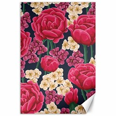 Pink Roses And Daisies Canvas 24  X 36  by allthingseveryday