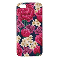 Pink Roses And Daisies Apple Iphone 5 Premium Hardshell Case