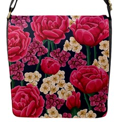 Pink Roses And Daisies Flap Messenger Bag (s)