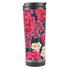 Pink Roses And Daisies Travel Tumbler