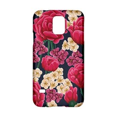 Pink Roses And Daisies Samsung Galaxy S5 Hardshell Case  by teambridelasvegas