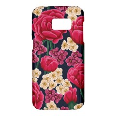 Pink Roses And Daisies Samsung Galaxy S7 Hardshell Case  by allthingseveryday