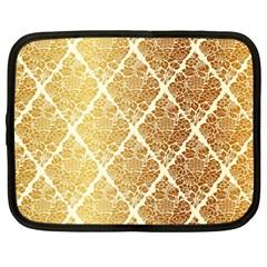Vintage,gold,damask,floral,pattern,elegant,chic,beautiful,victorian,modern,trendy Netbook Case (large) by 8fugoso