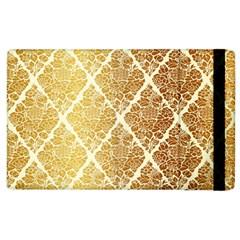 Vintage,gold,damask,floral,pattern,elegant,chic,beautiful,victorian,modern,trendy Apple Ipad 3/4 Flip Case by 8fugoso