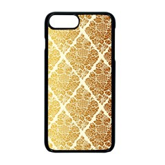 Vintage,gold,damask,floral,pattern,elegant,chic,beautiful,victorian,modern,trendy Apple Iphone 8 Plus Seamless Case (black) by 8fugoso