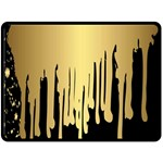 gold drip Fleece Blanket (Extra Large)