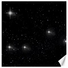 Starry Galaxy Night Black And White Stars Canvas 12  X 12   by yoursparklingshop