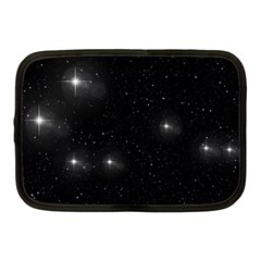 Starry Galaxy Night Black And White Stars Netbook Case (medium)  by yoursparklingshop
