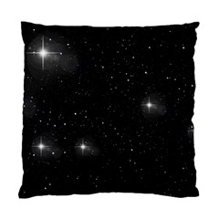 Starry Galaxy Night Black And White Stars Standard Cushion Case (one Side) by yoursparklingshop