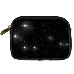 Starry Galaxy Night Black And White Stars Digital Camera Cases by yoursparklingshop
